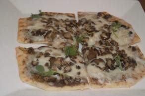 wild mushroom flatbread